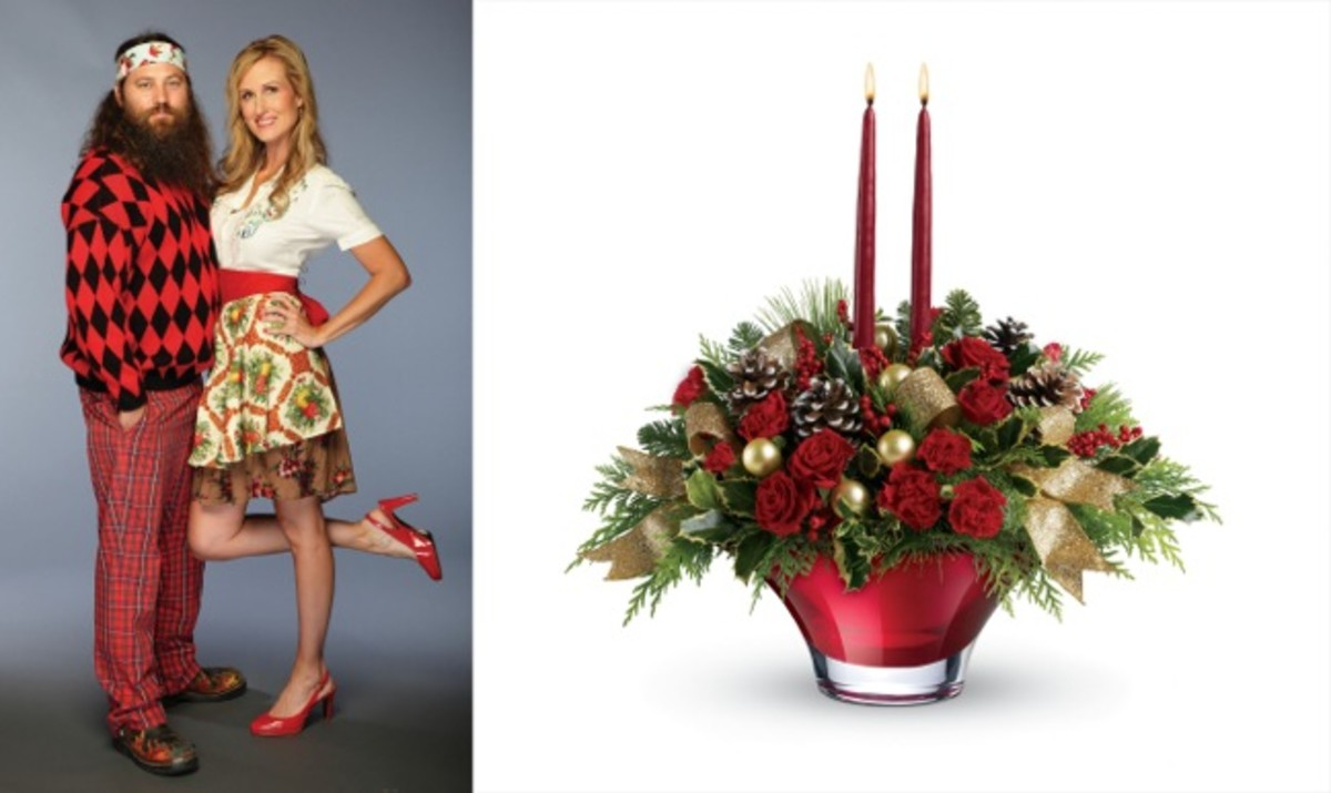 Willie and Korie Teleflora's Holiday Flair Centerpiece_COMBINED