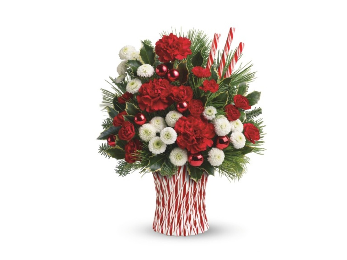 Teleflora's Peppermint Sticks Bouquet