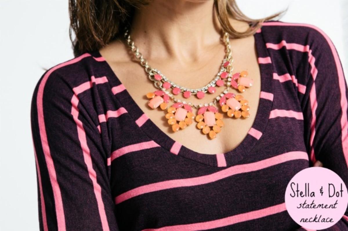 stella dot spring awakening, statement necklace