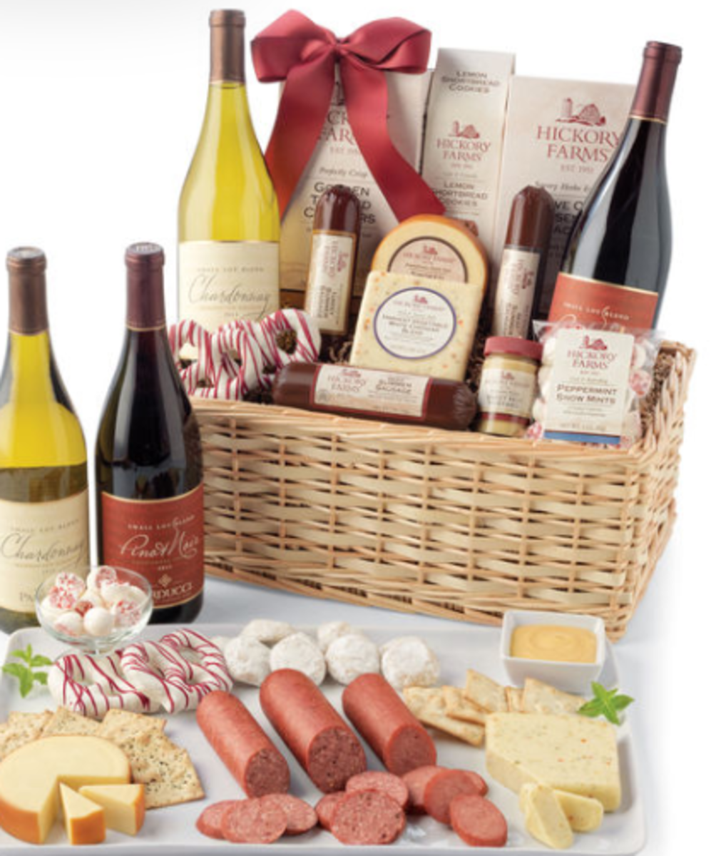 Hickory Farms Holiday Baskets
