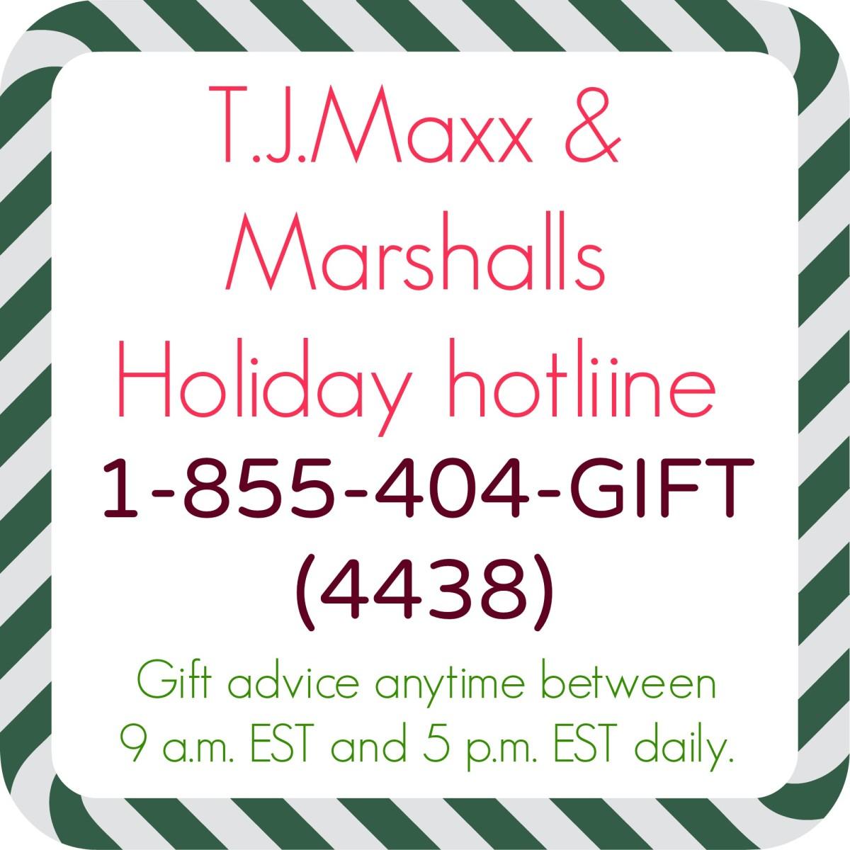tj maxx hotline