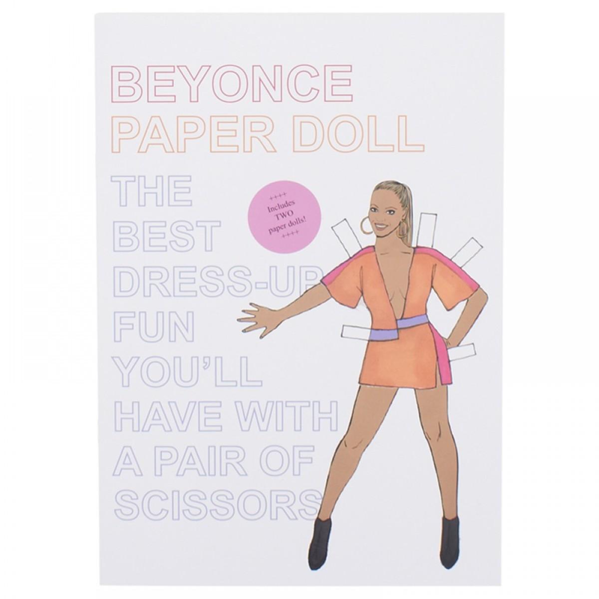 Beyonce Paper Dolls Set
