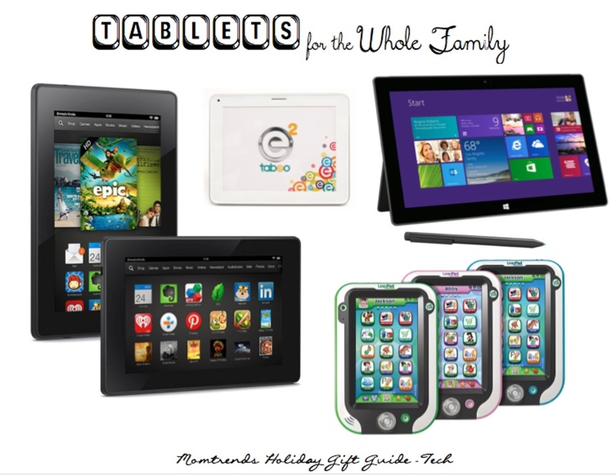 holiday gift tablets for parents, tots and teens