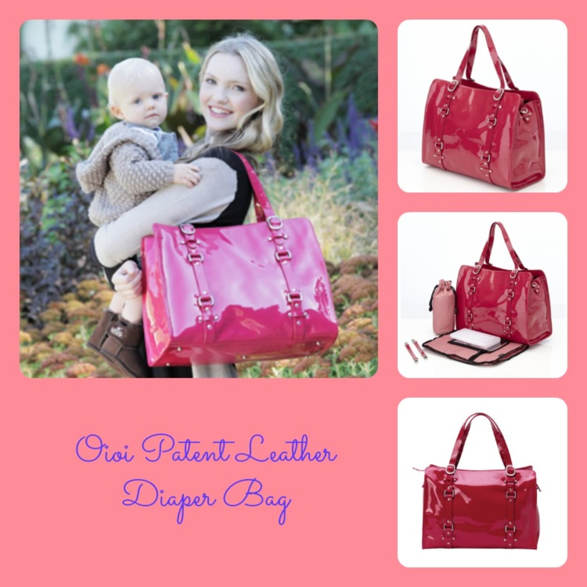 luxe diaper bag, diaper tote, leather diaper tote