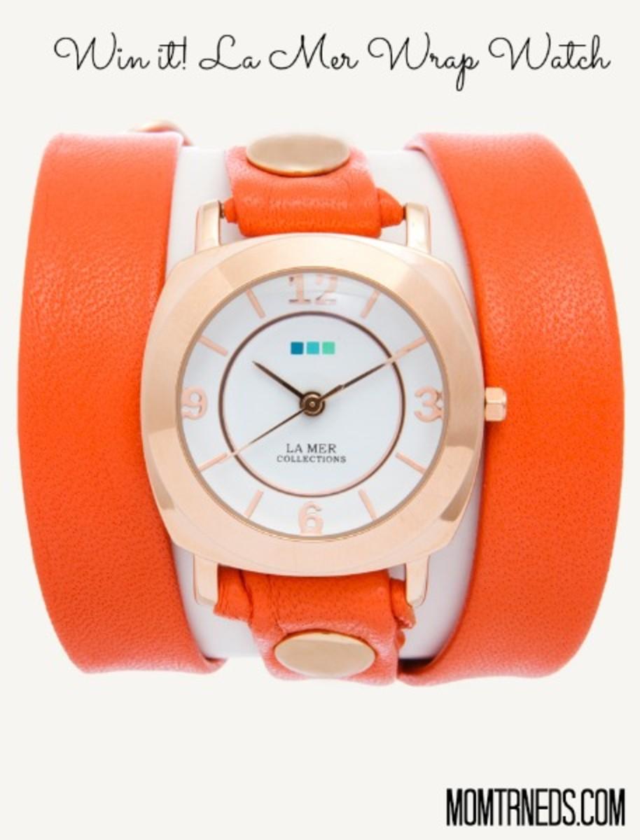 orange wrap watch la mer