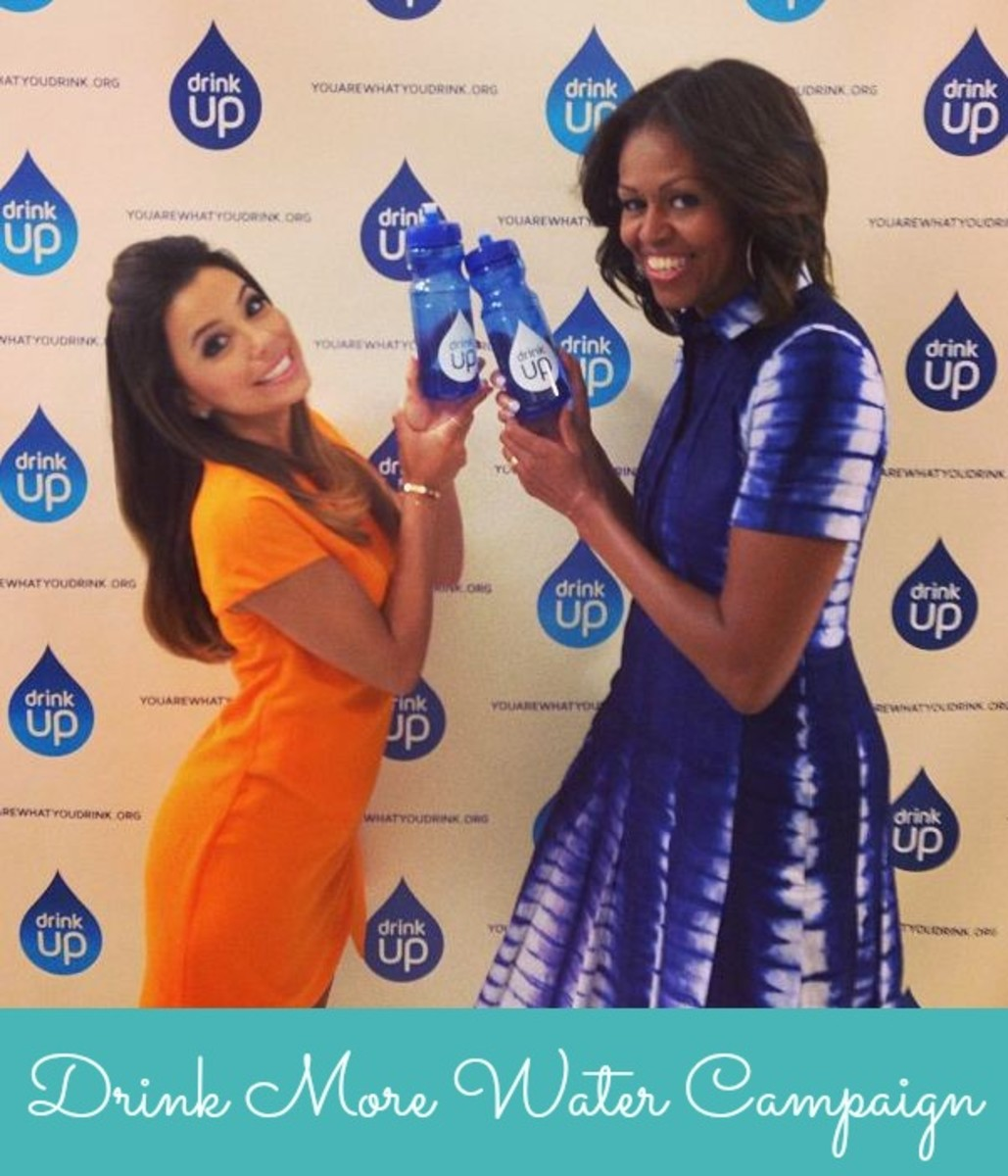 Drink More Water Campaign, water, healthy, Michelle Obama