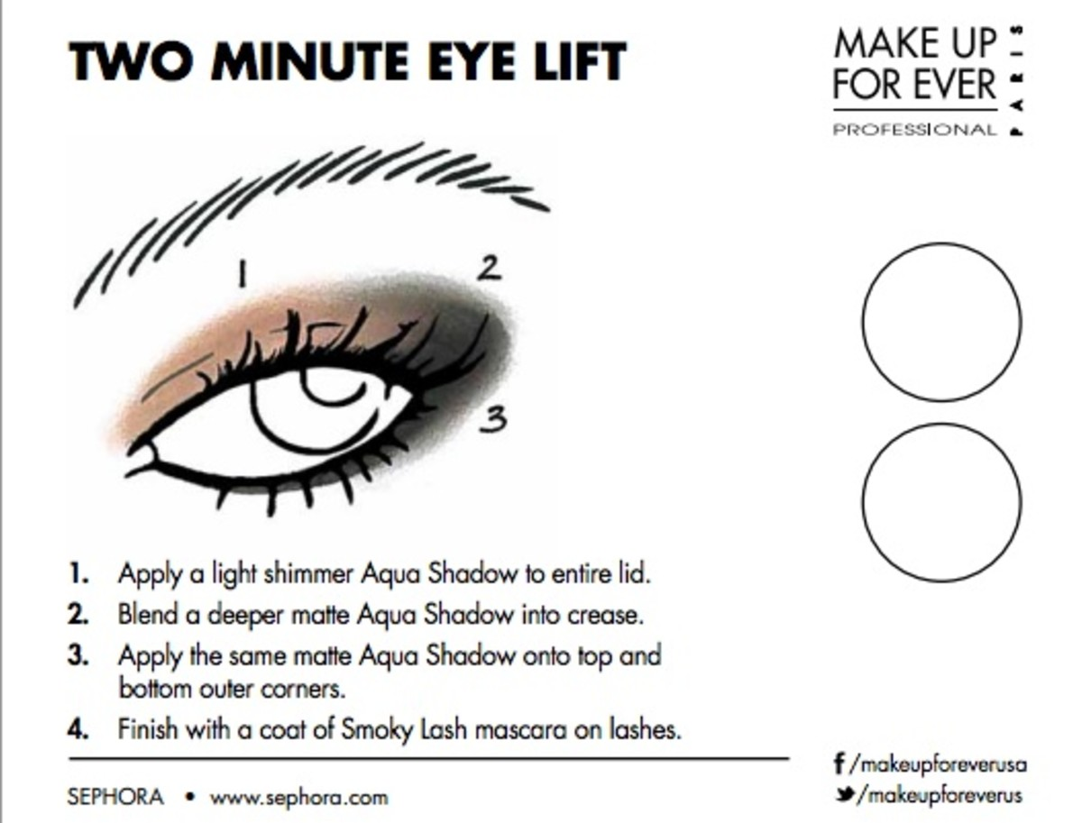 2 minute eye lift