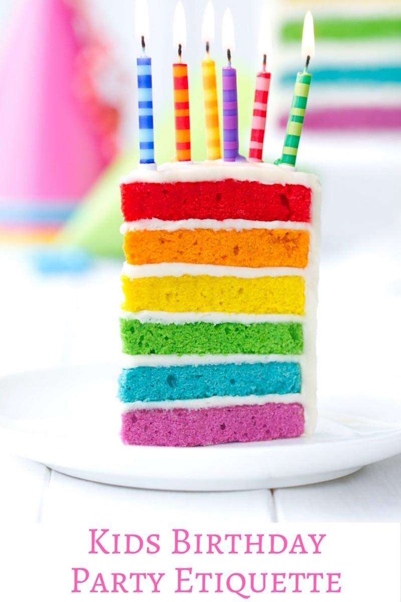 kids birthday party etiquette