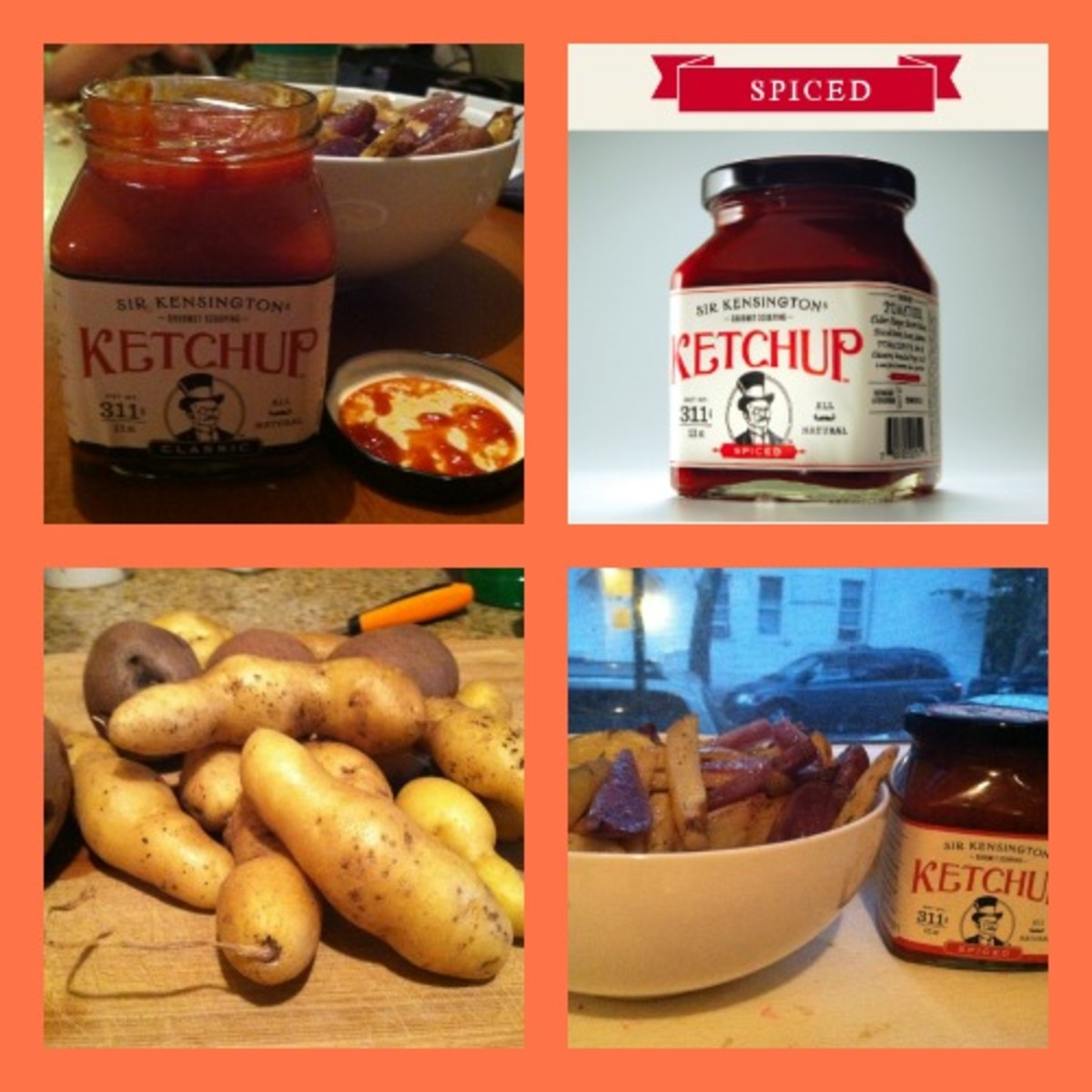 Baked French Fries with Sir Kensington's Gourmet Scooping Ketchup