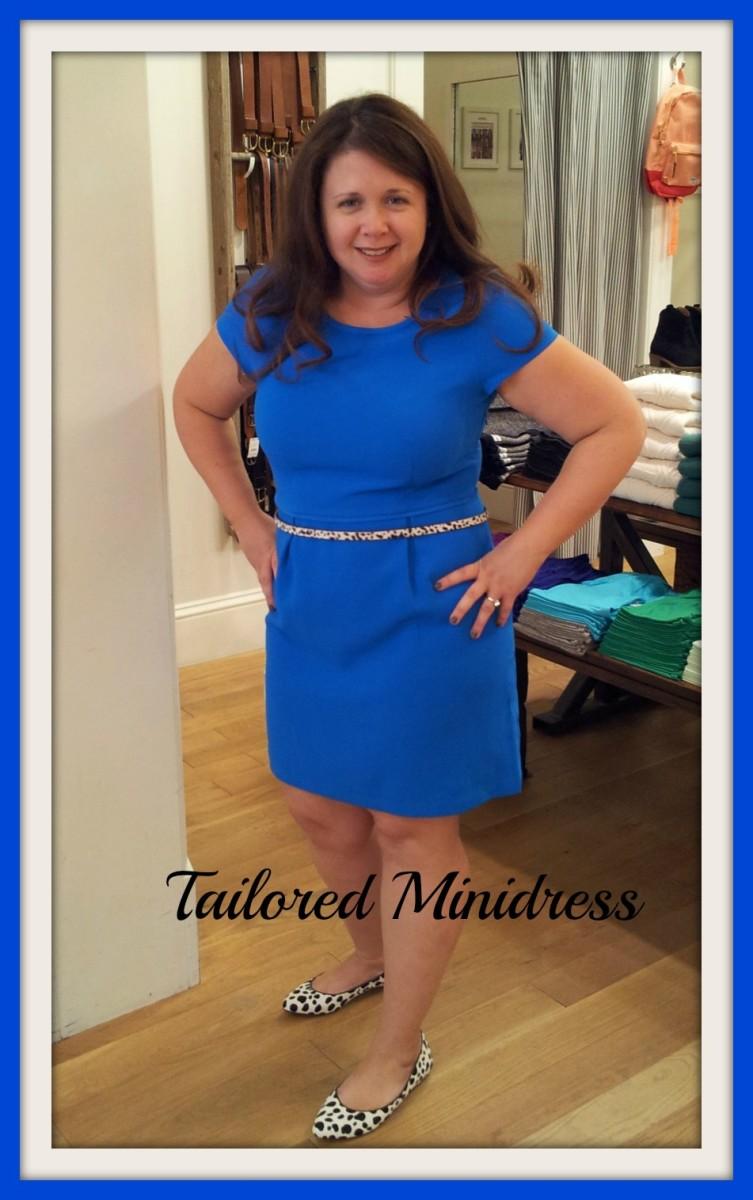 Madewell tailored minidress