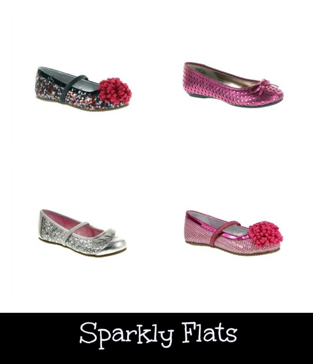 Sparkly Flats, holiday shoes