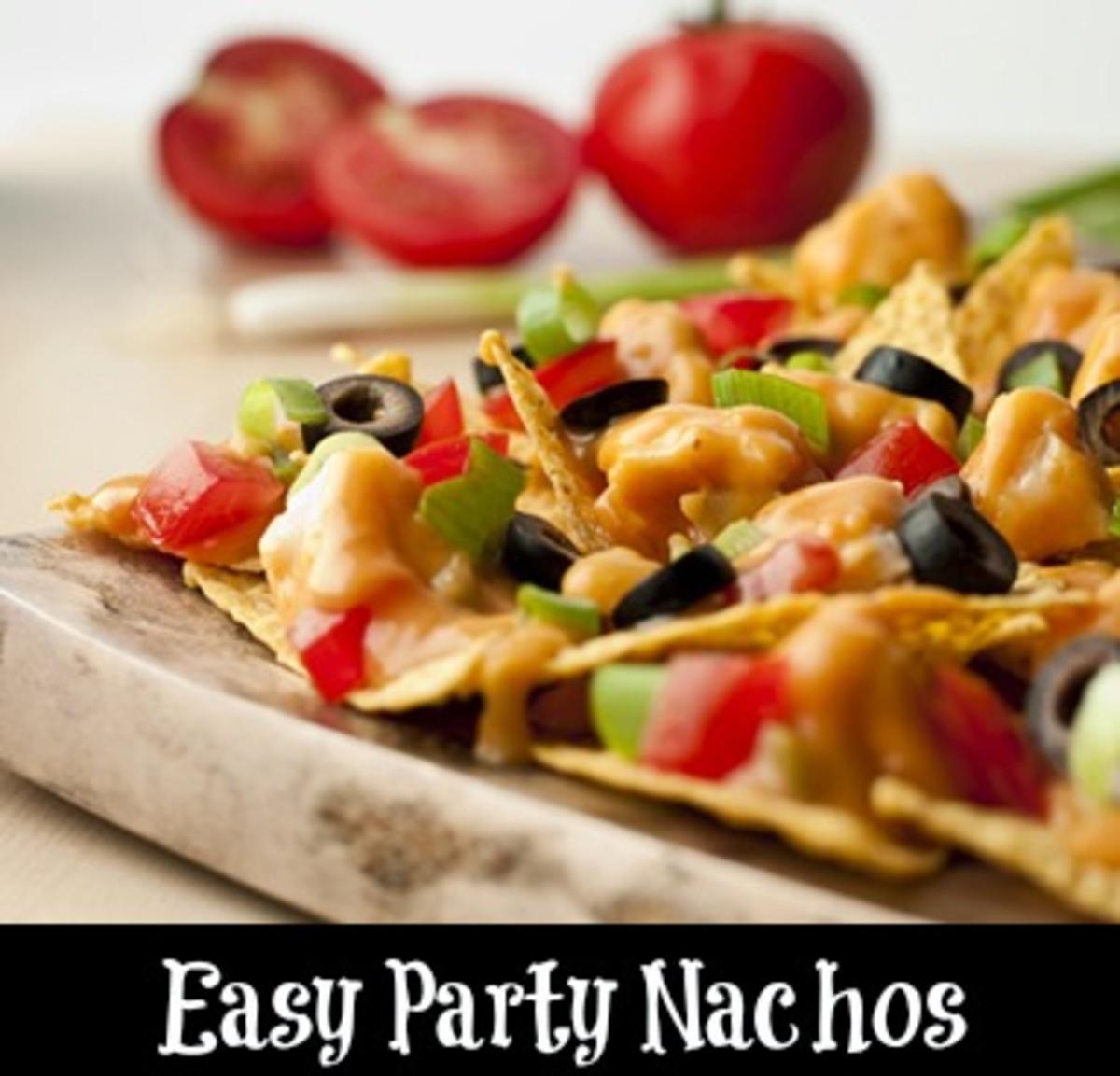 easy party nachos, game day recipes