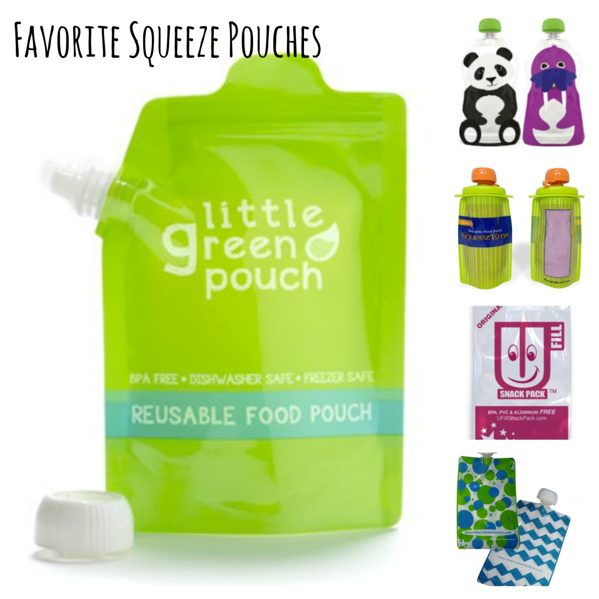 best refillable squeeze pouches