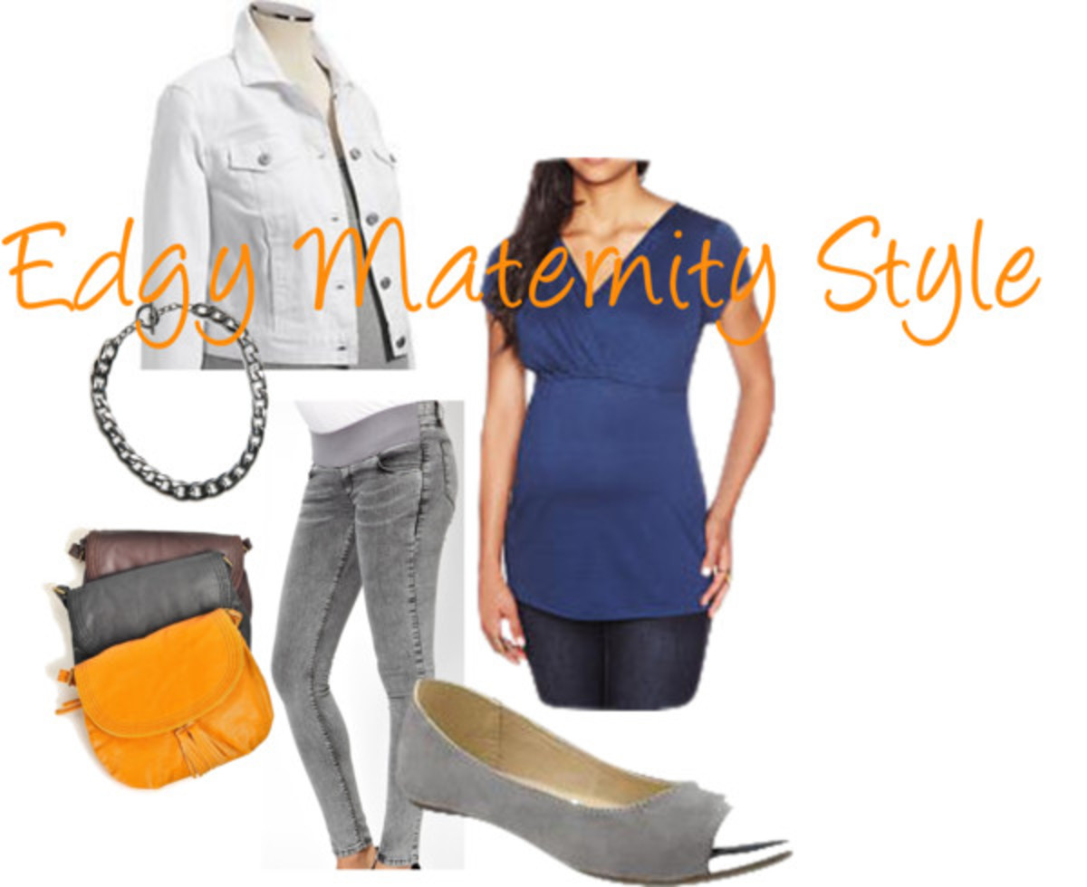 edgy maternity style