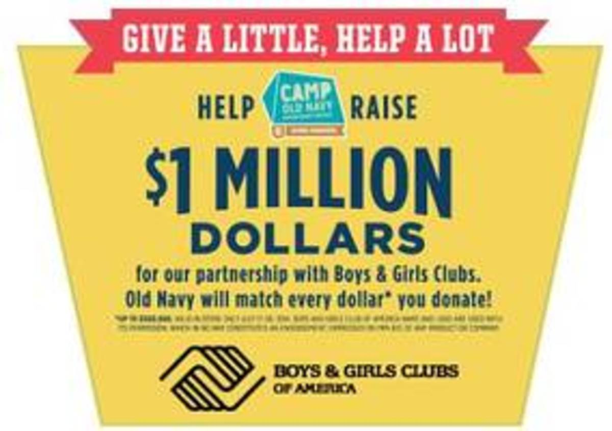 Old Navy's National Donation Drive Supports the Boys & Girls Club of America