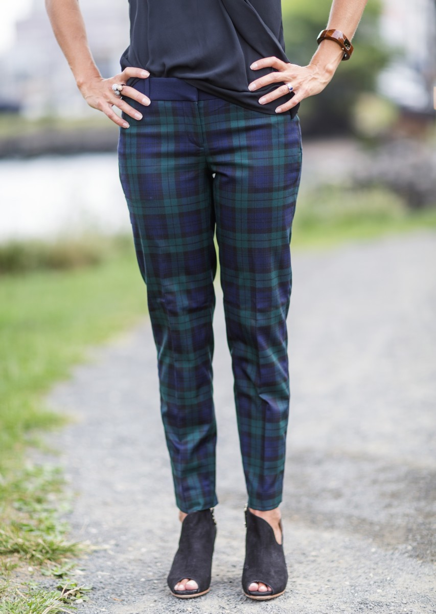 monday mingle, mad for plaid, LOFT, fashion for fall, plaid pants, fall fashion pants
