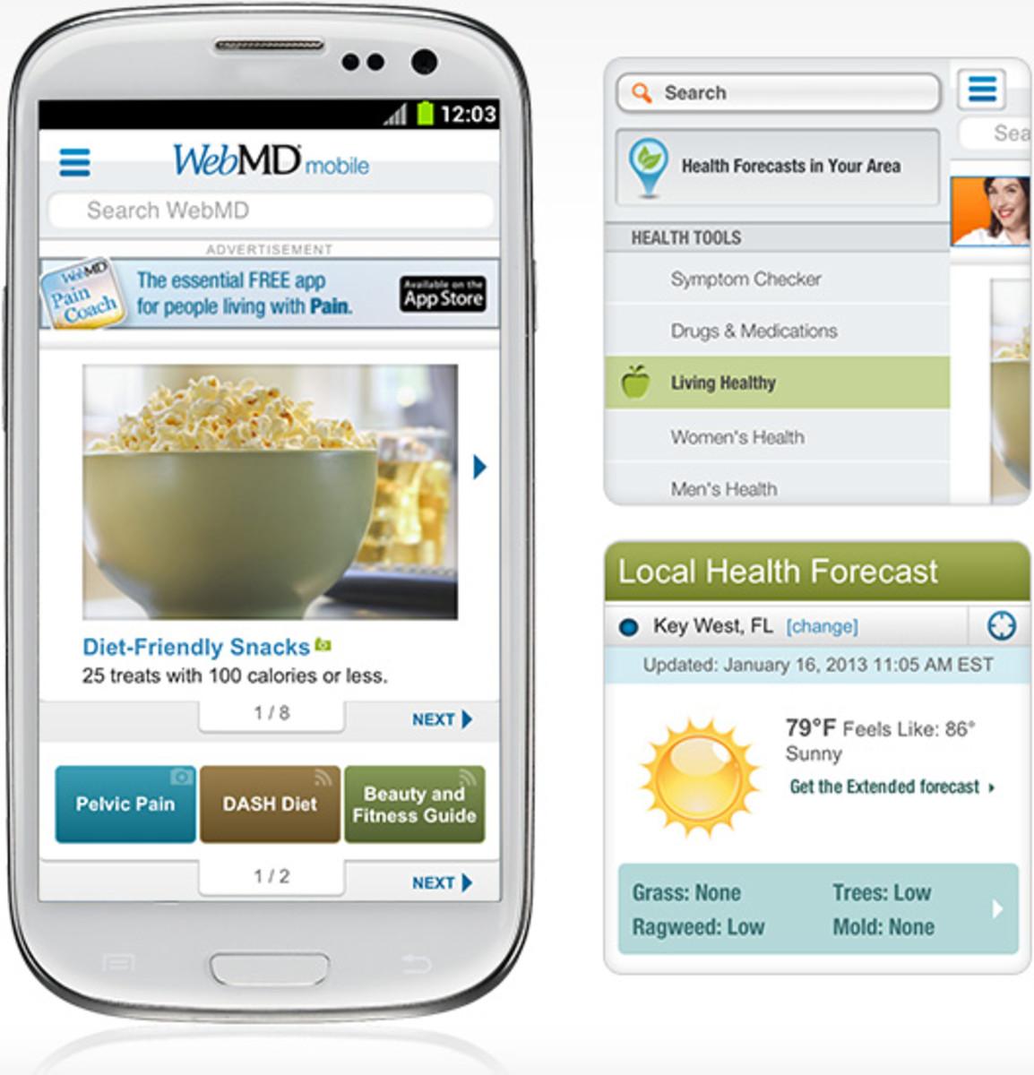 Web MD app