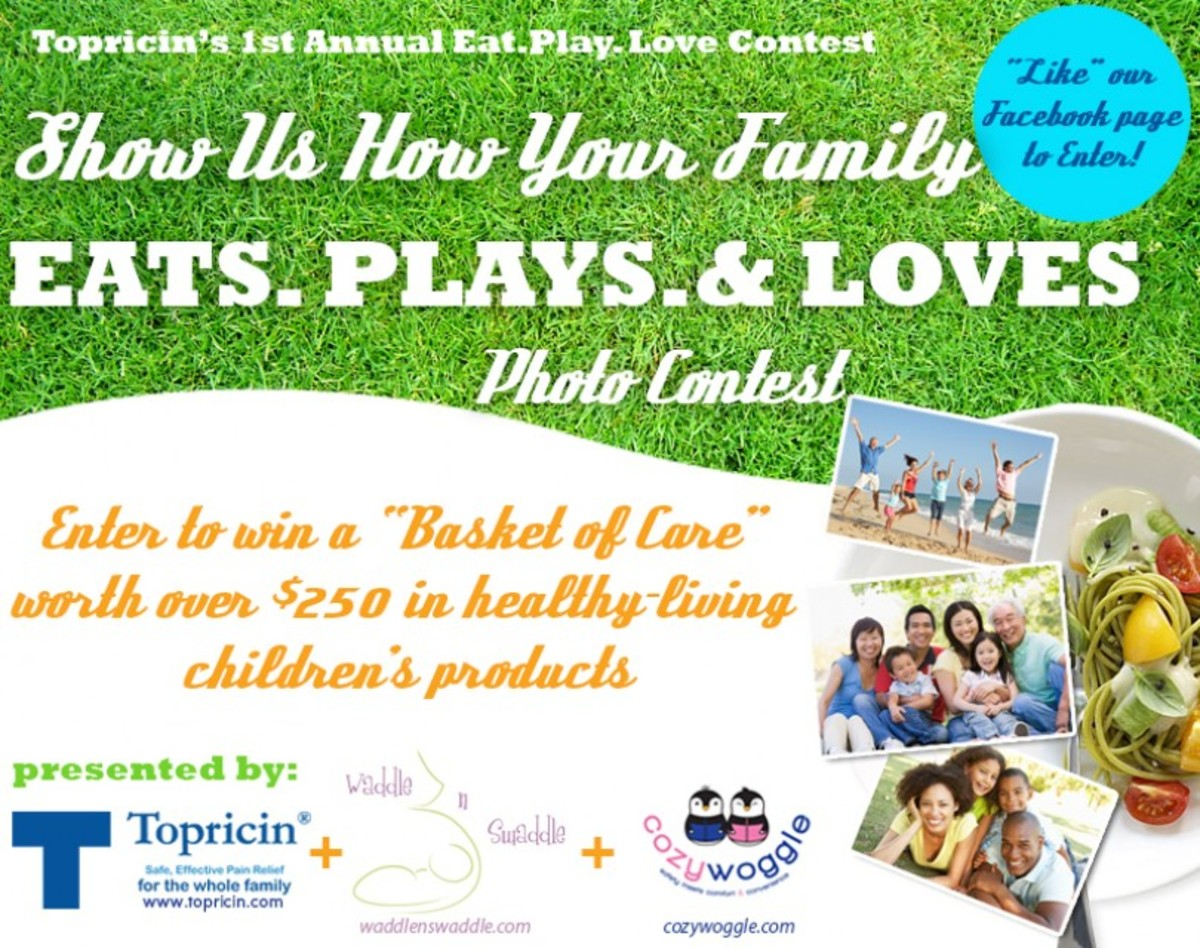 Topricin and Eat. Play. Love Photo Contest, Topricin Contest