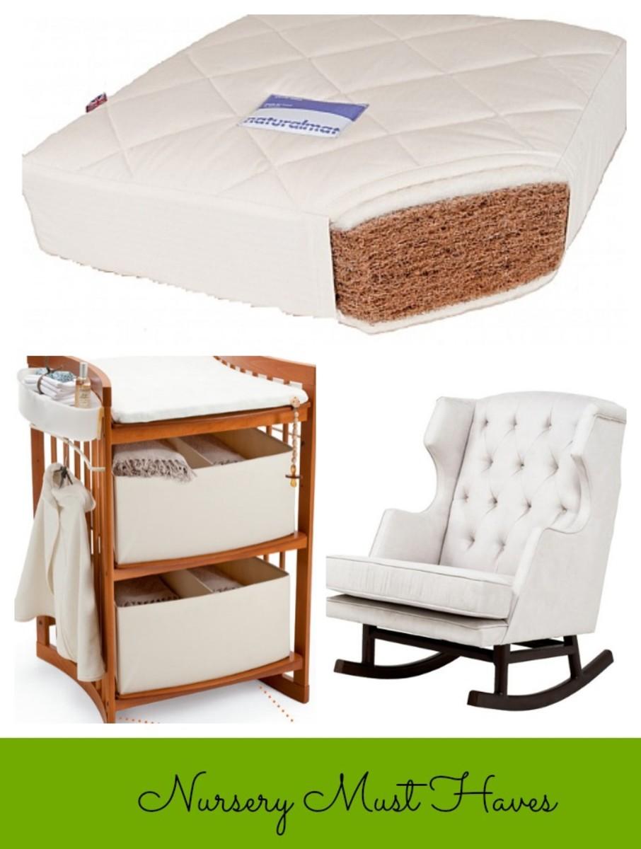 stokke care, changing table, nursery works rocker, naturalmat crib mattress