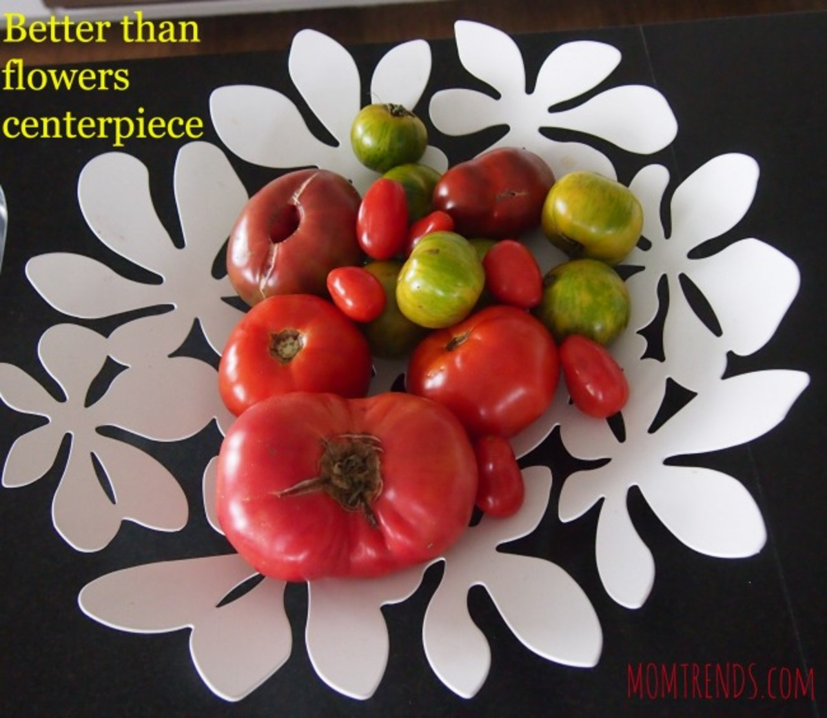tomatoes, centerpiece, fruit centerpiece, table display with tomatoes, ikea bowl