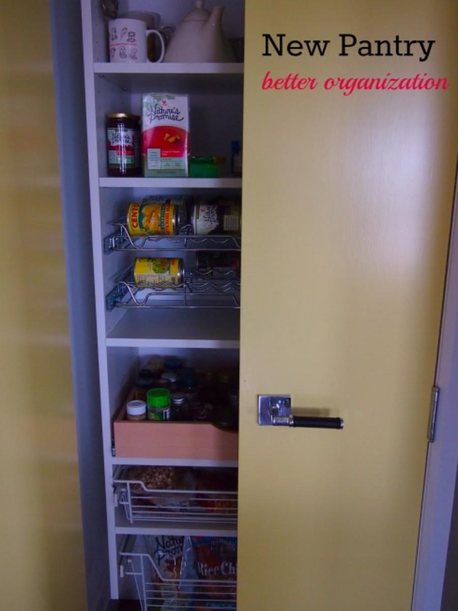 kitchen pantry, new pantry, updated pantry, pantry organization