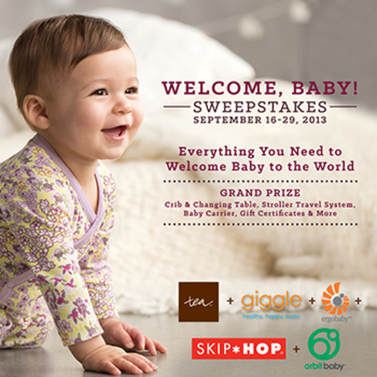 baby registry giveaway, new baby giveaway, tea collection sweepstakes