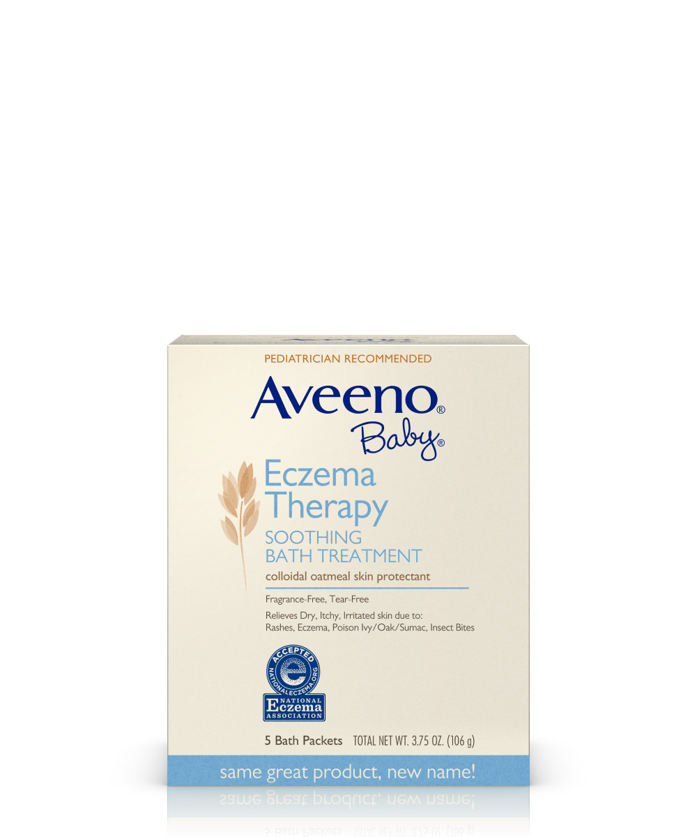 AVEENO Baby Eczema Therapy Soothing Bath Treatment Carton