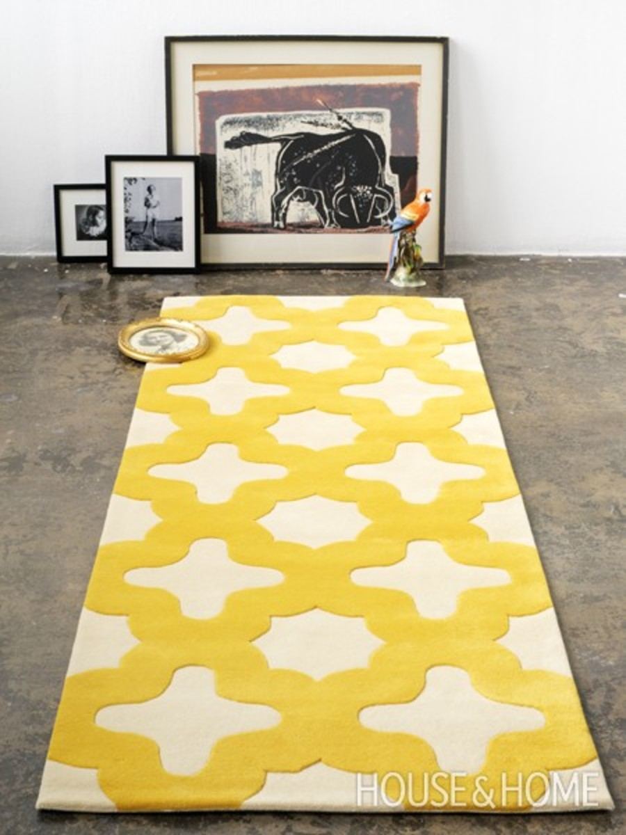 moroccan yellow runner