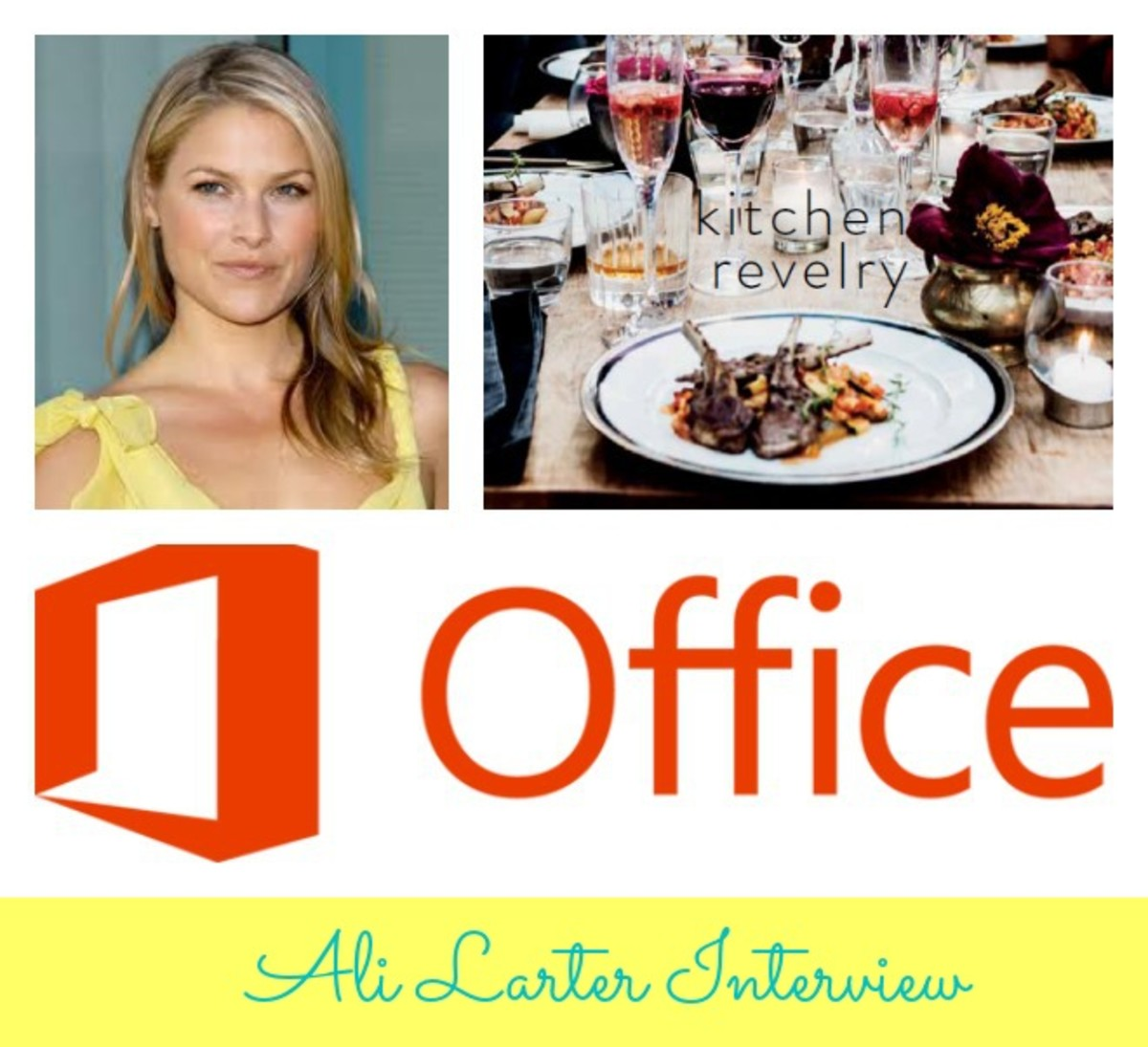 Ali Larter, Interview with Ali Larter, Microsoft Office