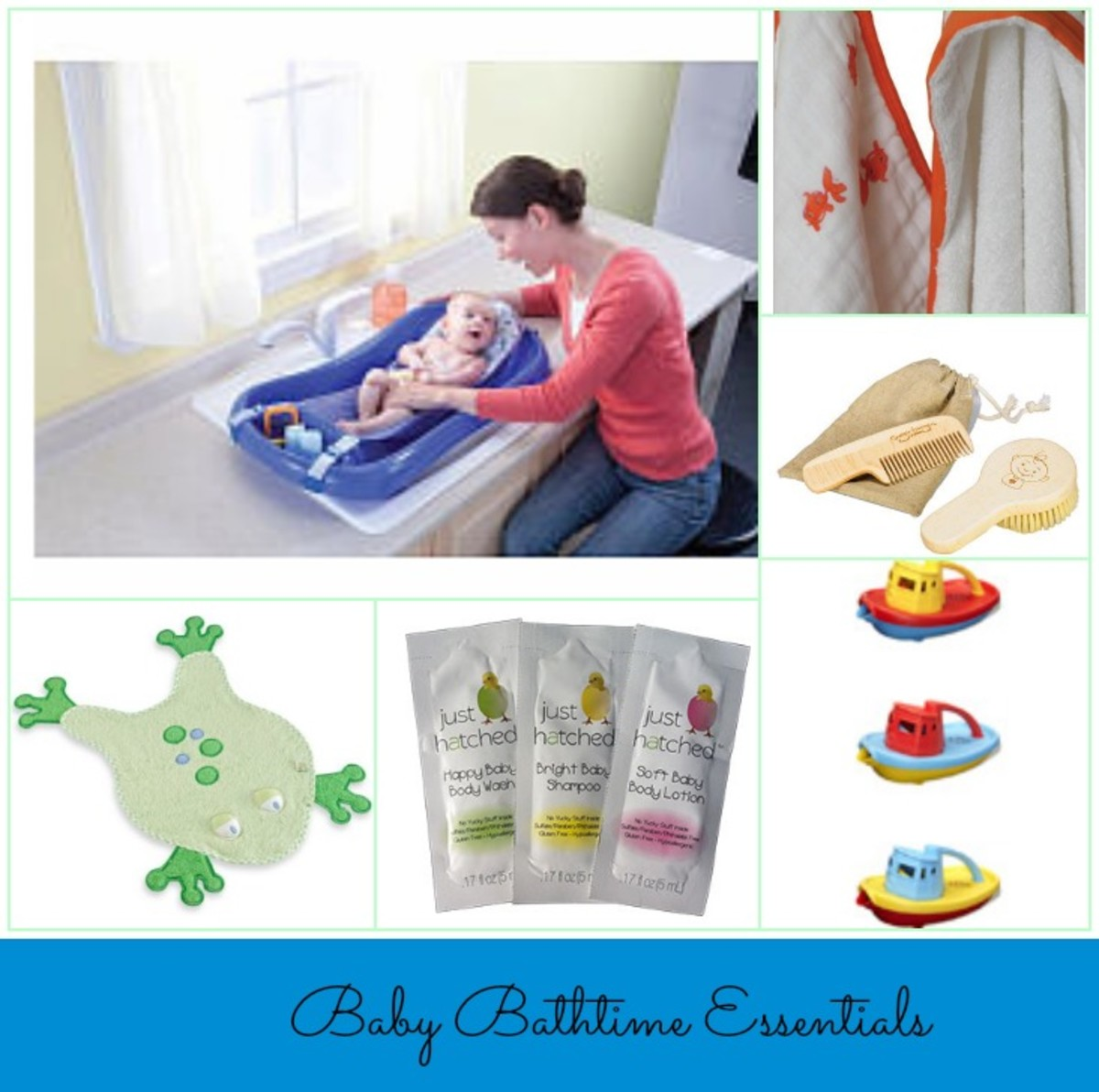 bathtime, baby bath items, aden & anais, first years, green toys, just hatched, bath Luv, baby's bath