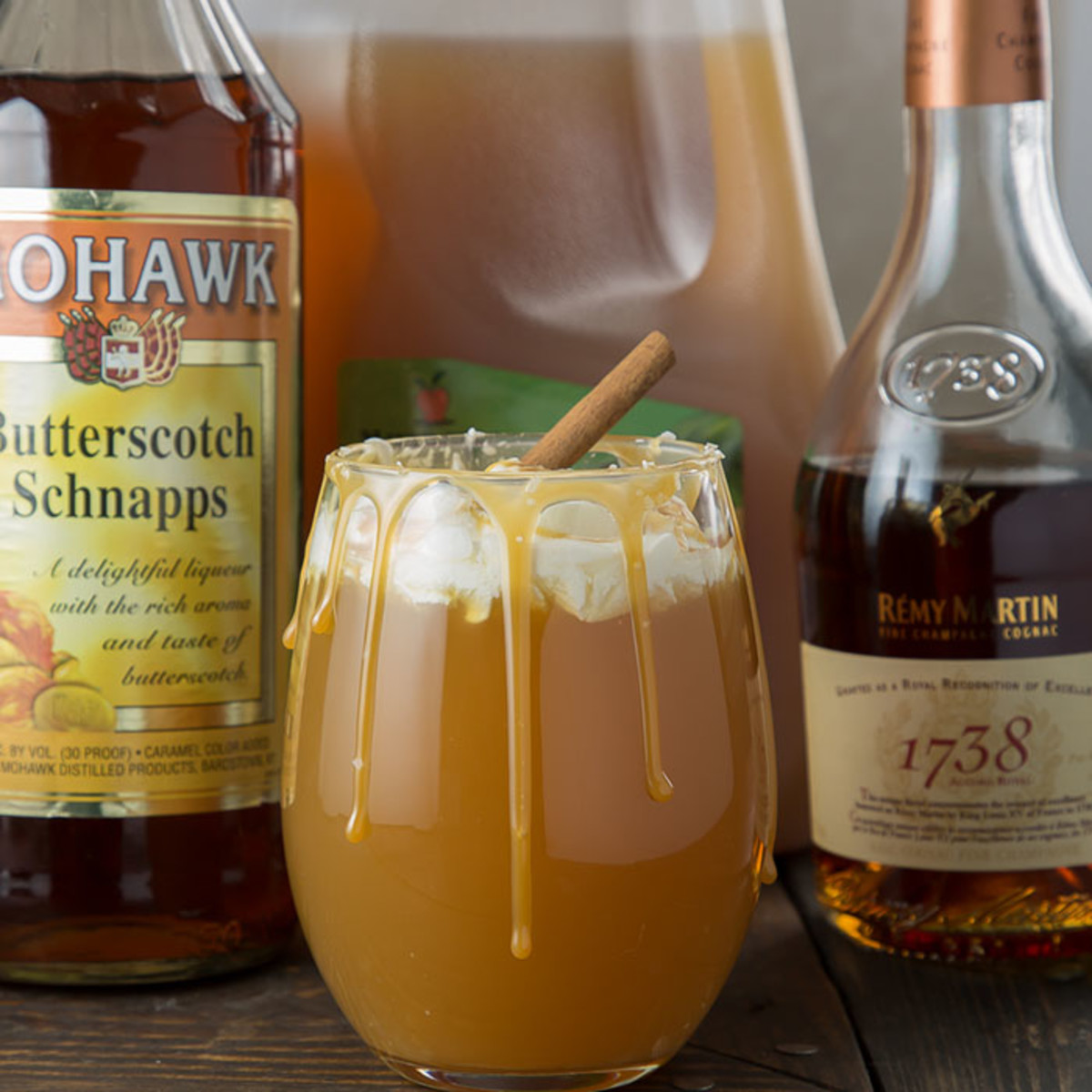 Boozy Salted Caramel Apple Cocktail Ingredients