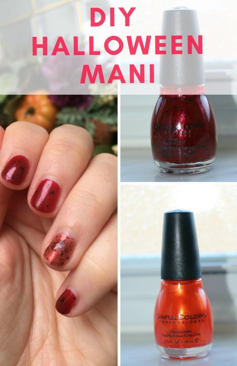 diy halloween manicure details