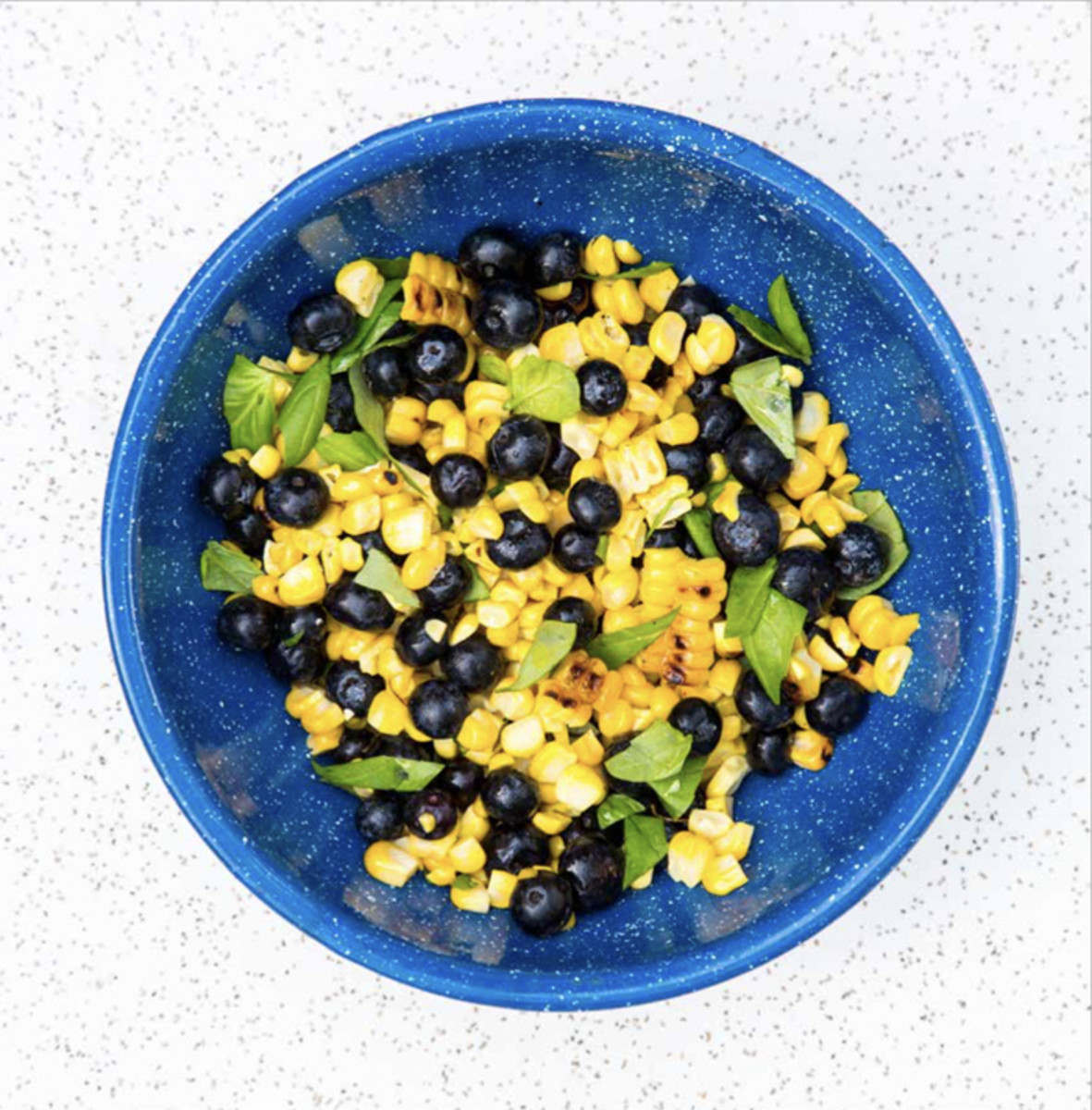 Sautéed Corn and Blueberry Salad 700px