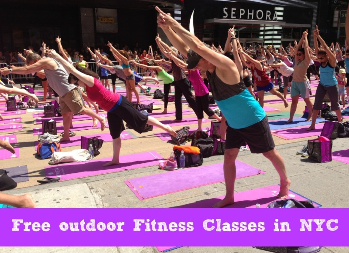 free outdoor fitness classes NYC