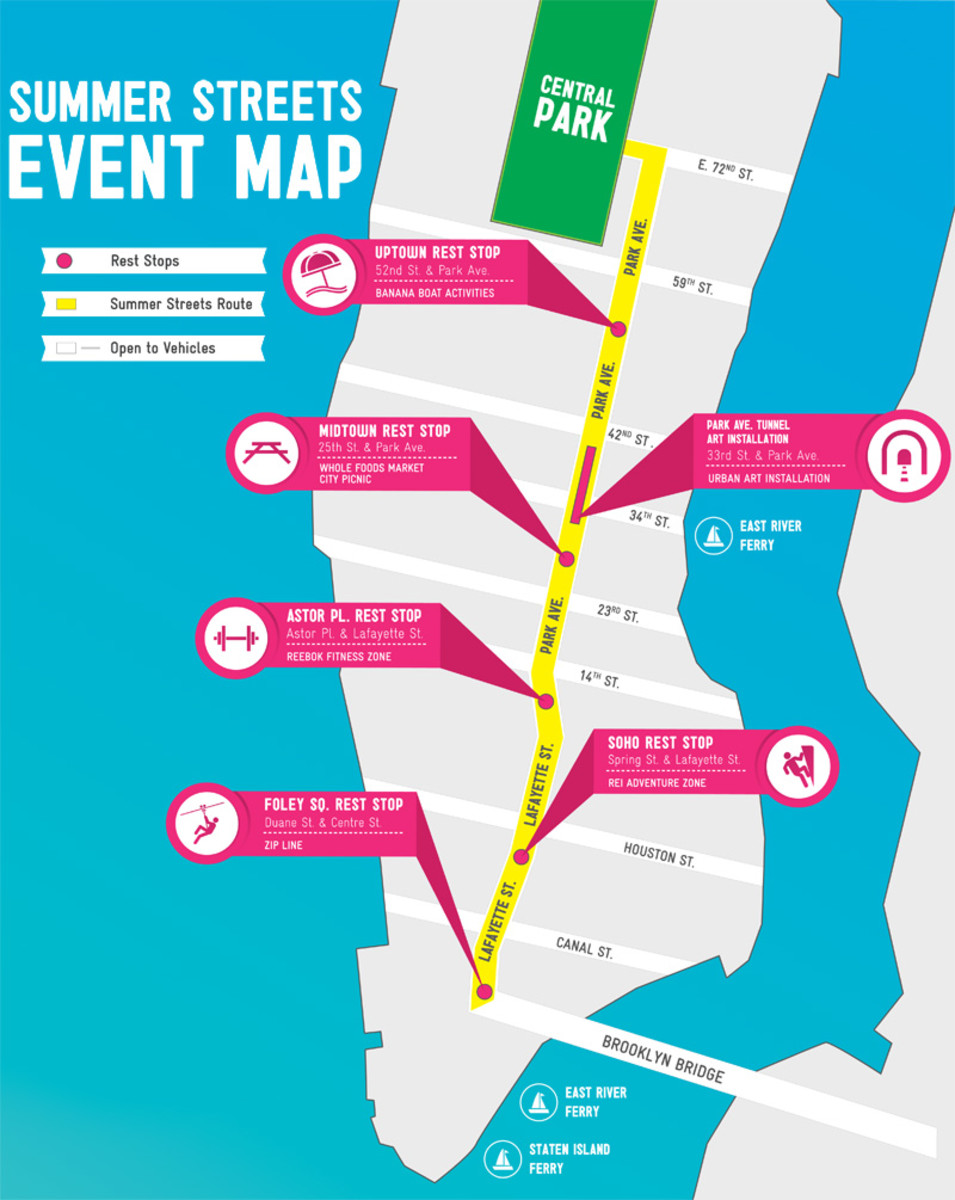 NYC Summer Streets 2013 map