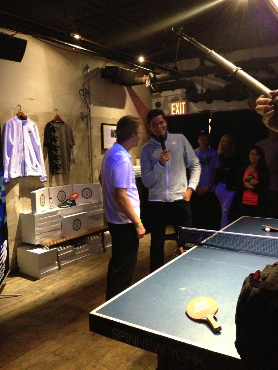 Tennis legend Jim Courier interviews Milos Raonic