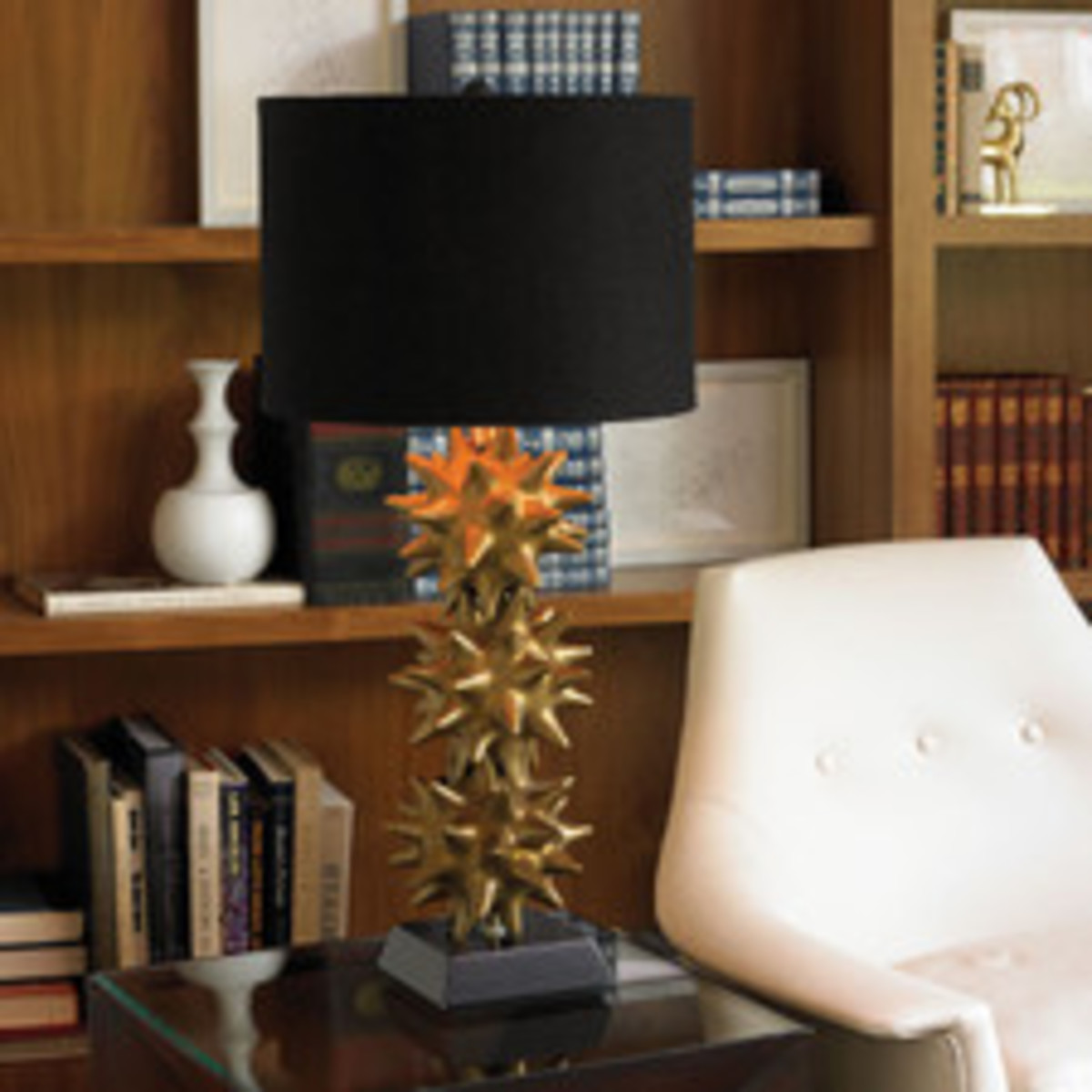 Urchin+Lamp-Gold+And+Black