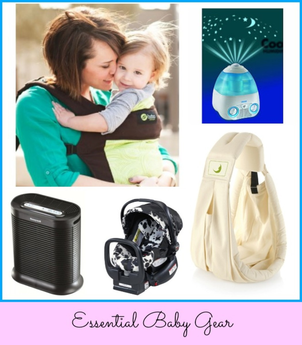 bobacarrier, joovy sling, britax chaperone carseat, honeywell air purifier, vicks humidifier, baby gear