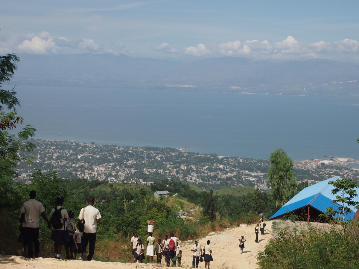 haiti dusty roads