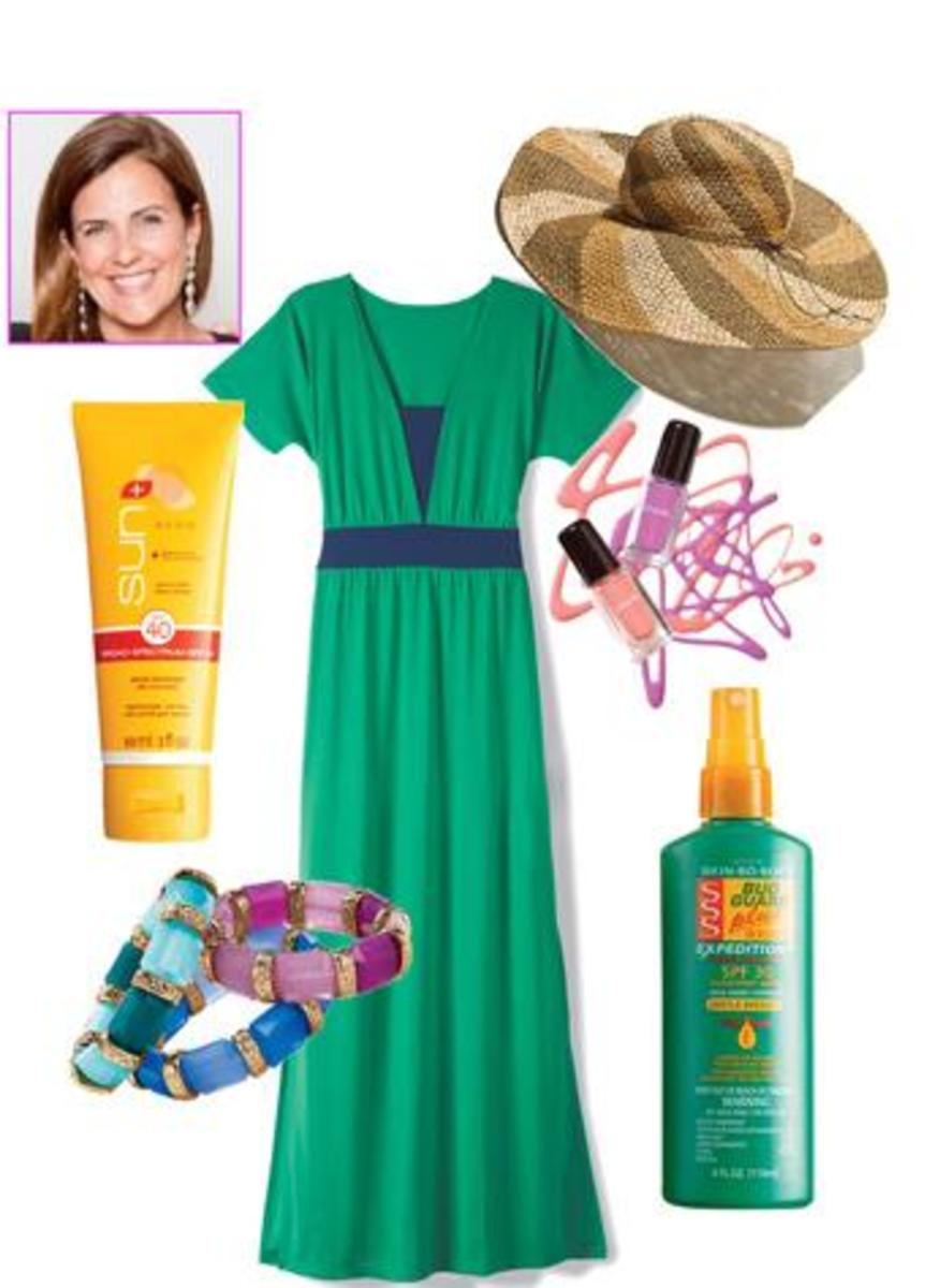 favorite beauty products, blogger picks, avon, maxi dress, summer beauty, skincare, sunscreen,