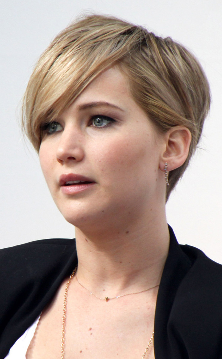 short hair jennifer lawrence,
