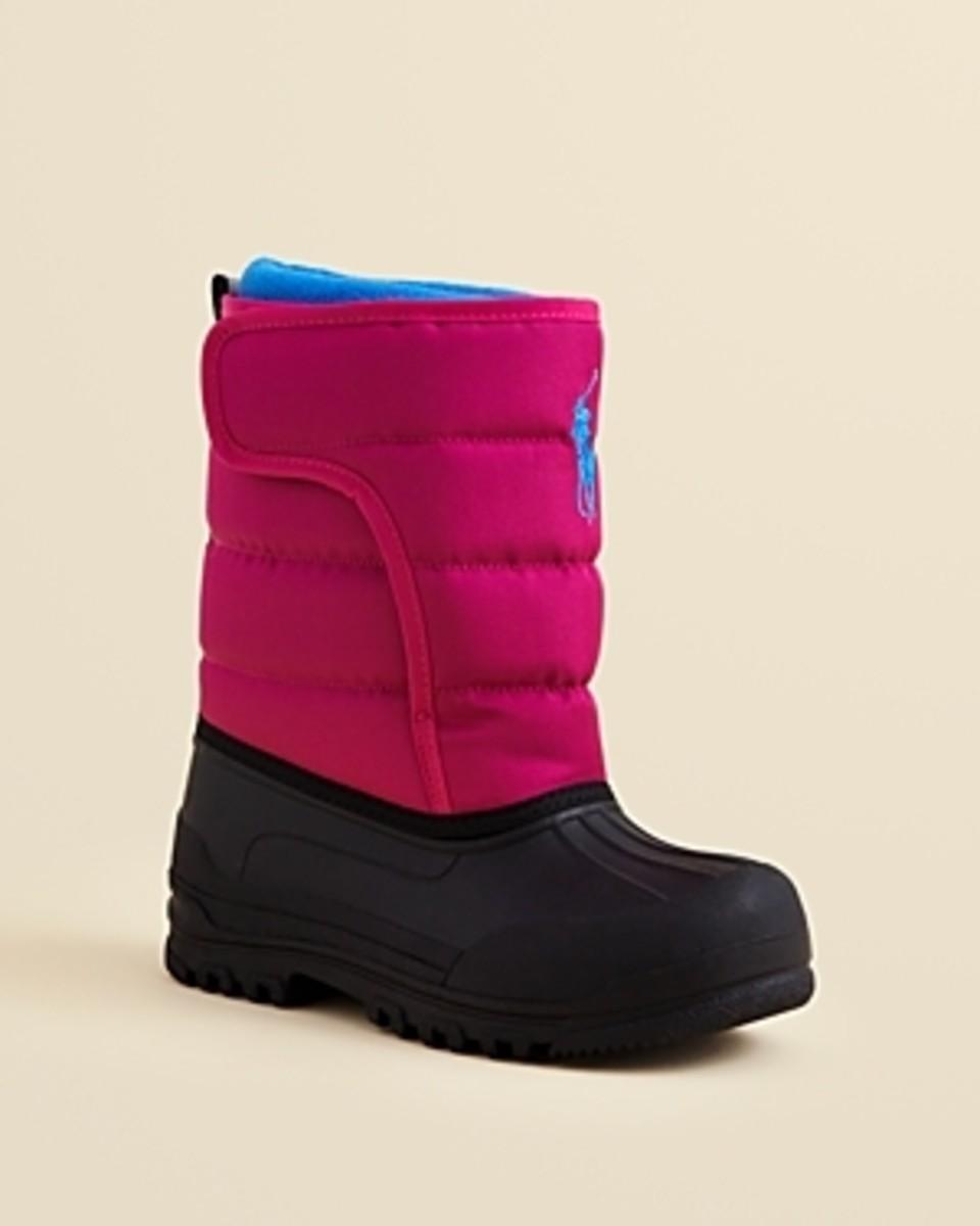 Ralph Lauren Girls' Hamilten Ez Snow Boots