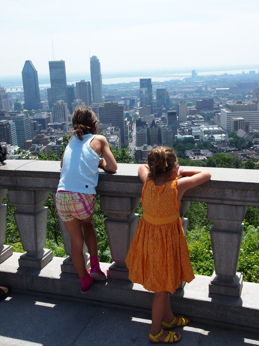 mount royal park, montreal with kids, views from montreal