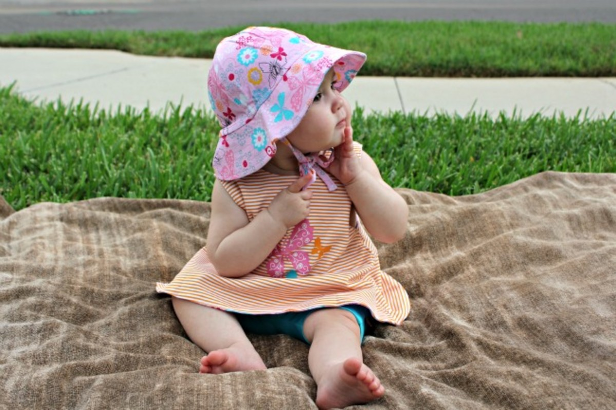 baby sun hat, cross back top, reversible sunshine top, baby bike shorts