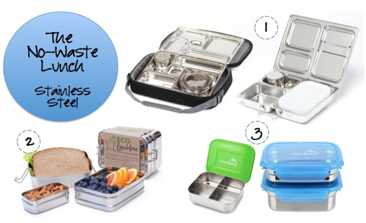 No waste lunch boxes stainless steel