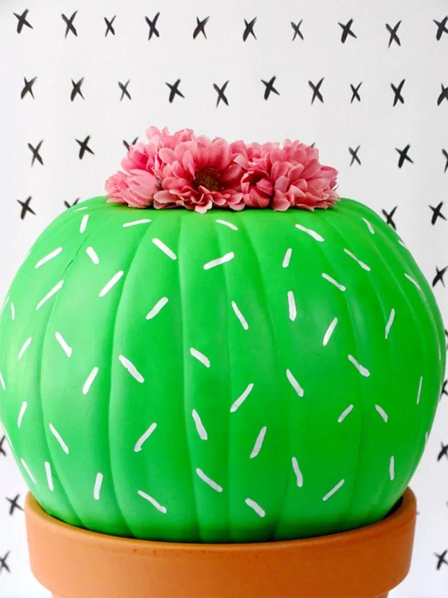 pumpkin cactus craft