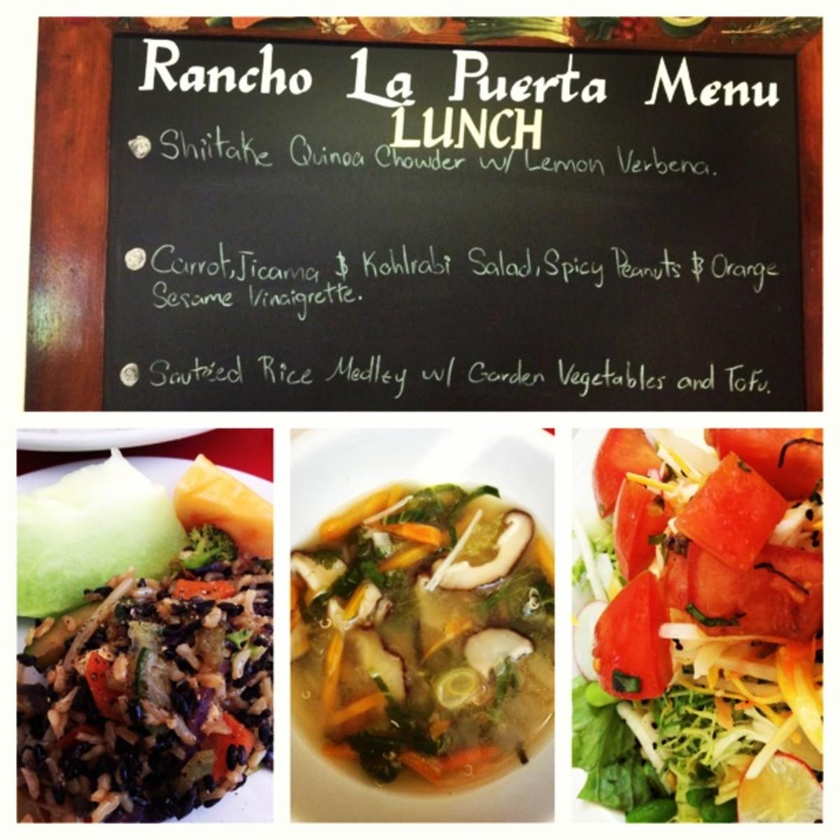 Rancho la Puerta lunch
