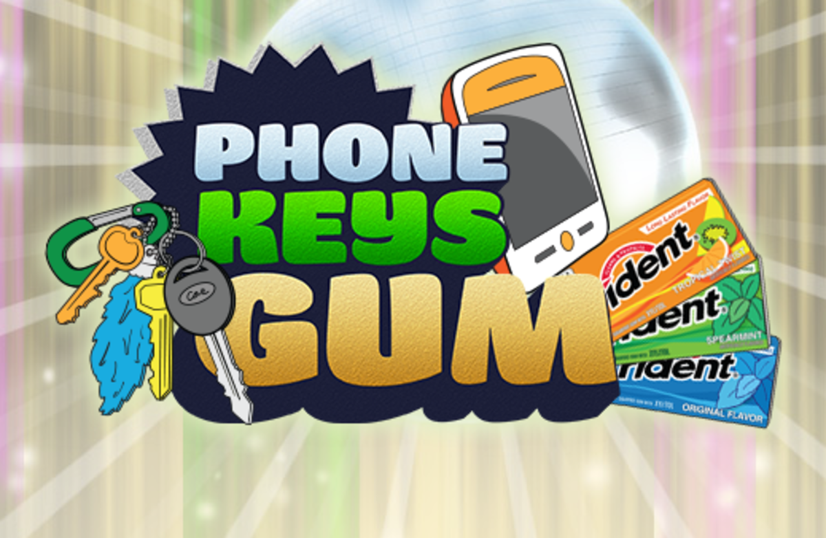 Phone Keys Gum Campaign