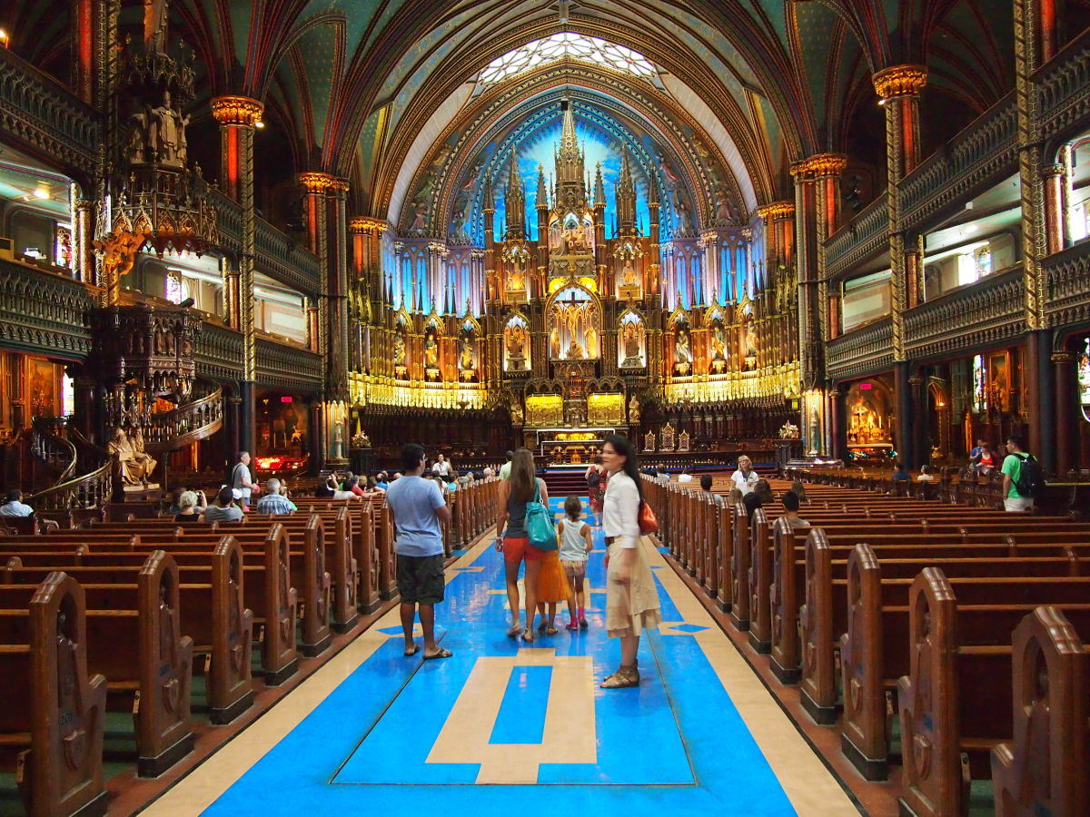 notre dame basilica montreal, montreal with kids, family travel, luxe family travel, montreal, canada vacation,