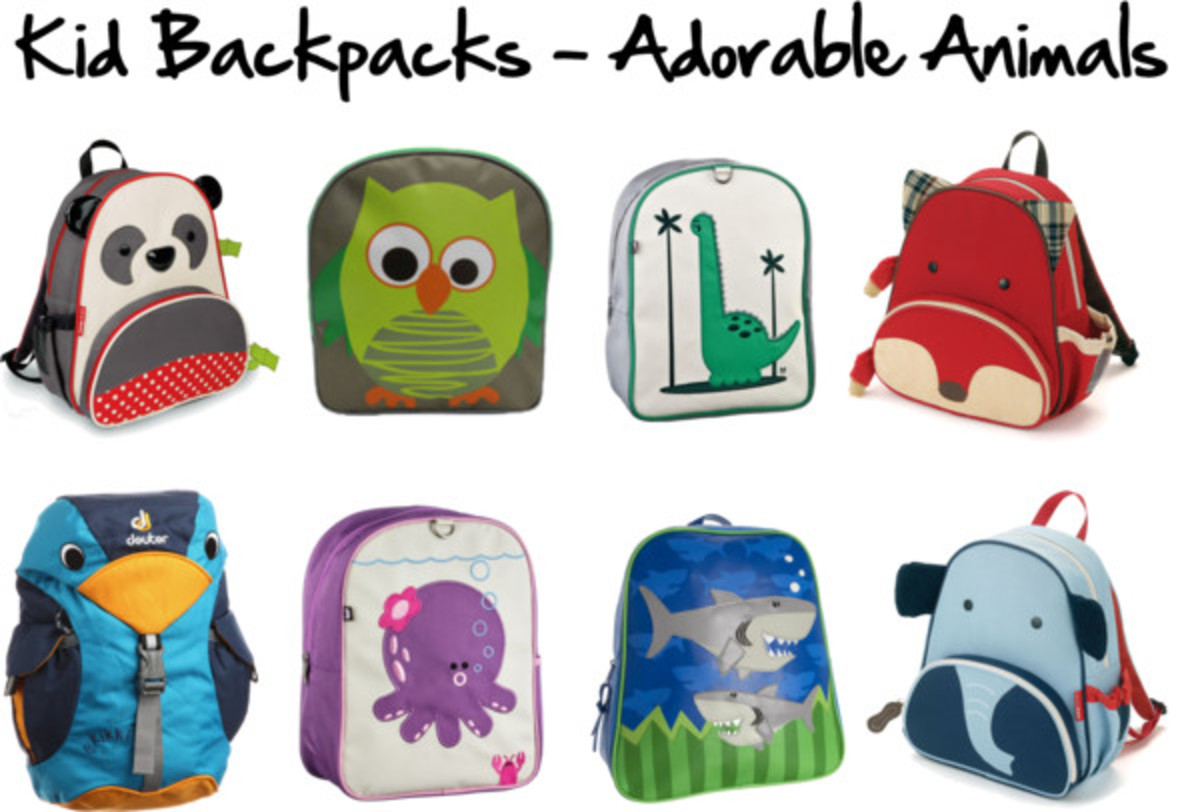 Kid Backpacks - Adorable Animals